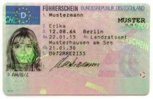 Die Vorderseite des Führerscheines.
